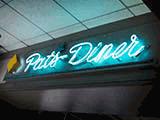 neon pat's diner sign